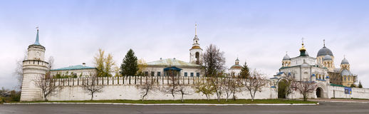Cathedral and monastery in Verchoturye, Russia Stock Image