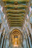 Indoor sight in the Cathedral of Monreale, in the province of Palermo. Sicily, southern Italy. stock photo