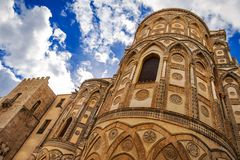 Cathedral of Monreale or duomo in Palermo, Sicily stock images