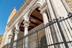 The Cathedral of Monreale facade, Sicily, Italy. The Cathedral of Monreale facade, is one of the greatest extent examples of Norman architecture, Sicily, Italy royalty free stock photo