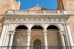 The Cathedral of Monreale facade, Sicily, Italy. The Cathedral of Monreale facade, is one of the greatest extent examples of Norman architecture, Sicily, Italy stock images