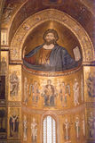 Cathedral of Monreale. Golden Mosaics. Sicily Royalty Free Stock Photography