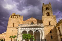 The Cathedral of Monreale, great extent examples of Norman architecture, Sicily royalty free stock photography