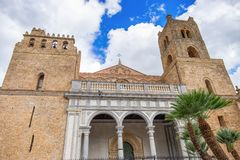 The Cathedral of Monreale, Norman architecture, Sicily, Italy stock images