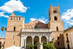 The Cathedral of Monreale in Sicily, Italy stock photography
