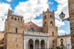 The Cathedral of Monreale in Sicily, Italy. The Cathedral of Monreale, is one of the greatest extent examples of Norman architecture, Sicily, Italy royalty free stock photo