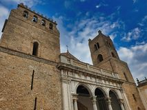 The Cathedral of Monreale, is one of the greatest extent examples of Norman architecture. In sicily italy royalty free stock image