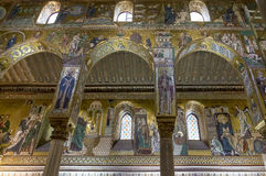 Cathedral of Monreale in Palermo, Sicily Royalty Free Stock Photos