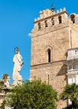 The Cathedral of Monreale with statue of Madonna on the front, Sicily royalty free stock photography