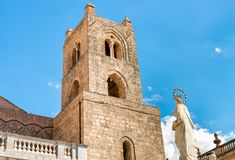 The Cathedral of Monreale tower in Sicily, Italy stock photo
