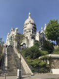 Cathedral in Montmartre. View of the Cathedral in Montmartre in Paris with my eyes Royalty Free Stock Photo