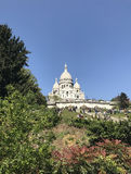 Cathedral in Montmartre. View of the Cathedral in Montmartre in Paris with my eyes Stock Photos