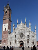 The Cathedral in Monza (IT). The cathedral and the bell tower of Monza (IT Royalty Free Stock Images