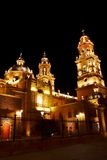 Cathedral of Morelia III. Cathedral of the city of Morelia, located in the mexican state of mich Stock Image