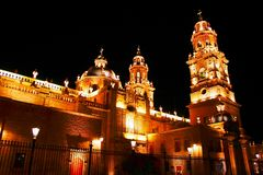 Cathedral of Morelia IV. Cathedral of the city of Morelia, located in the mexican state of mich Stock Images