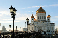 Cathedral in Moscow Royalty Free Stock Photography