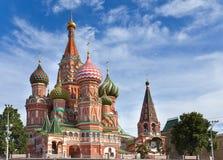 Cathedral.Moscow da manjericão do St. Rússia Fotografia de Stock