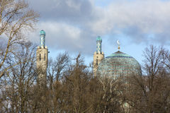 Cathedral mosque of SaintPetersburg, gambit, dome, turrets, mina Royalty Free Stock Photos