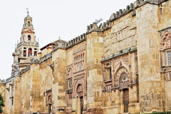The Cathedral Mosque Walls in Cordoba, Spain Stock Photo