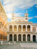 Side entrante to the Basilica of Saint John Lateran in Rome, Italy. stock image