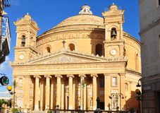 Cathedral in Mosta, island Malta. Worl-famous cathedral in town Mosta on island malta Stock Images