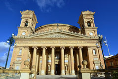Cathedral in Mosta,Malta. World famous cathedral in village Mosta,Malta island Stock Photos