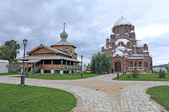 Cathedral of the Mother of God of All Who Sorrow and Joy Trinity. Church in Sviyazhsk royalty free stock image