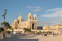 Cathedral from The MuCem museum Royalty Free Stock Photo