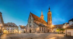 Cathedral on munsterplatz square in Villingen-Schwenningen Royalty Free Stock Photography