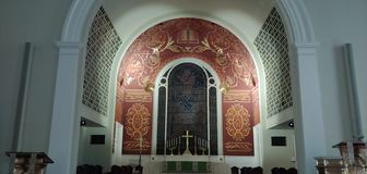 Lutheran Ascension church of god royalty free stock photography