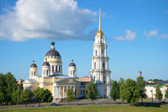 Cathedral in the name of the Transfiguration of the Lord on the morning of July. Rybinsk, Russia Royalty Free Stock Image