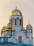Cathedral in the names of all saints. Russia.  Ekaterinburg Royalty Free Stock Image