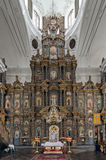 The Cathedral of Nativity of Blessed Virgin hand-crafted linden iconostasis in Kozelets, Ukraine Stock Images