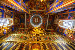 Cathedral of the Nativity (1222) Interior, Suzdal Stock Images