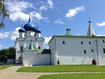 Cathedral of the Nativity of the Theotokos, Russia, Suzdal. Cathedral of the Nativity of the Theotokos is one of the most complex monuments of Russian medieval Royalty Free Stock Image