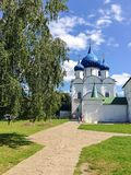 Cathedral of the Nativity of the Theotokos, Russia, Suzdal. Cathedral of the Nativity of the Theotokos is one of the most complex monuments of Russian medieval Royalty Free Stock Photo