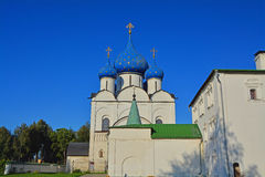 Cathedral of the Nativity of the Virgin and Cross chamber in Kremlin in Suzdal, Russia Stock Image