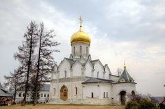Cathedral of the Nativity of the Virgin. Savvino-Storozhevsky monastery. Zvenigorod, Russia. Stock Photos
