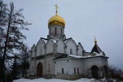 The Cathedral of the Nativity of the virgin 15th century, Zvenigorod, Russia Stock Images