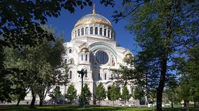The cathedral. Naval cathedral of St. Nicholas in Kronstadt Stock Image