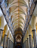 Cathedral nave royalty free stock photo
