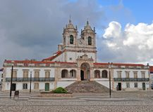 Cathedral of Nazare sitio, Portugal stock image