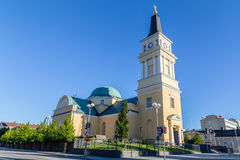 Cathedral near the centre of Oulu, Finland. Cathedral near the centre of Oulu, Finland: a popular place to visit for tourist royalty free stock images