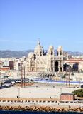 The Cathedral near harbor of Marseille City Stock Photography