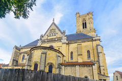 The Cathedral in Nevers. The Cathedral Cathedrale Saint-Cyr-et-Sainte-Julitte, in Nevers, Burgundy, France Stock Photography