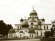 Cathedral in New Jerusalem monastery, Russia stock photography