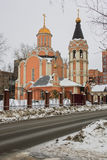 Cathedral of the New Martyrs and Confessors of Russia, Kuchino district, Moscow region. The Christians used to especially honor martyrs who testified their Stock Photography