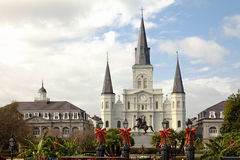 Cathedral in New Orleans on Jackston Square Royalty Free Stock Photos