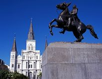 Cathedral, New Orleans, USA. Stock Images