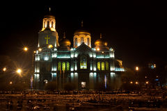 Cathedral in night royalty free stock images